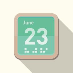 シンプルなカレンダーのアイコン その4 Flat Icon Design フラットアイコンデザイン