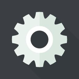 設定の歯車アイコン Flat Icon Design フラットアイコンデザイン