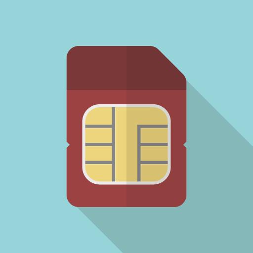 SIMカードのフラットアイコン素材