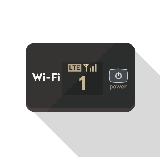 Wi-Fiルーターのアイコン素材