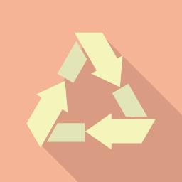 リサイクルのアイコン素材 Flat Icon Design フラットアイコンデザイン