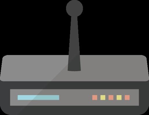 wifi機器のアイコン素材