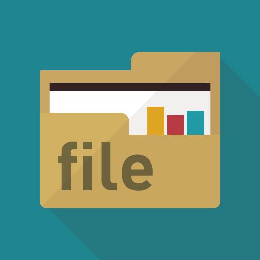 ファイルのフラットデザインアイコン