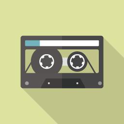 カセットテープのアイコン素材 Flat Icon Design フラットアイコンデザイン