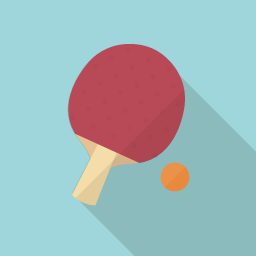 Table Tennis Flat Icon Design フラットアイコンデザイン