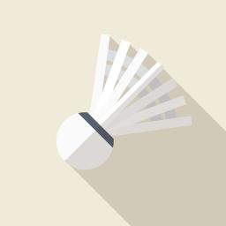 バドミントンのシャトル 羽根 の素材 Flat Icon Design フラットアイコンデザイン