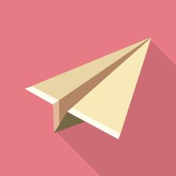 紙飛行機のフラットアイコン素材 Flat Icon Design フラットアイコンデザイン