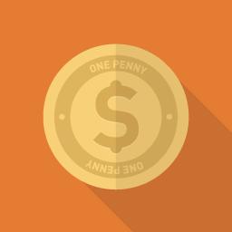 コインのアイコン素材 Flat Icon Design フラットアイコンデザイン