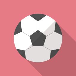サッカーボールのイラストアイコン素材 Flat Icon Design フラットアイコンデザイン