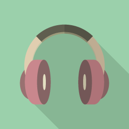 Music Flat Icon Design フラットアイコンデザイン