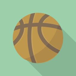 バスケットボールのアイコン素材 Flat Icon Design フラットアイコンデザイン