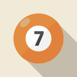 ビリヤードのボール その2 Flat Icon Design フラットアイコンデザイン