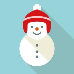 雪だるまのアイコン素材 Flat Icon Design フラットアイコンデザイン