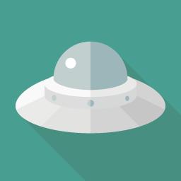 Ufo Flat Icon Design フラットアイコンデザイン