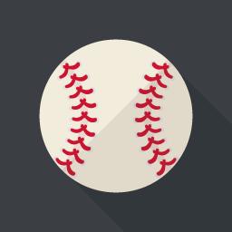 野球のボールアイコン Flat Icon Design フラットアイコンデザイン