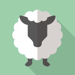 羊の無料フラットアイコン Flat Icon Design フラットアイコンデザイン