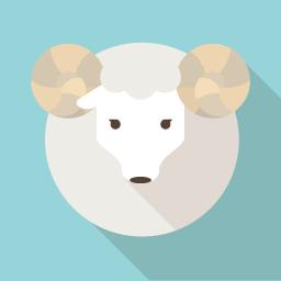羊のフラットアイコン 2 Flat Icon Design フラットアイコンデザイン