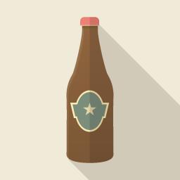 ビール Flat Icon Design フラットアイコンデザイン