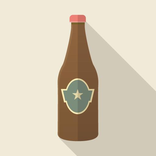 ビール瓶のアイコン素材