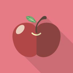 リンゴのフラットアイコン その2 Flat Icon Design フラットアイコンデザイン