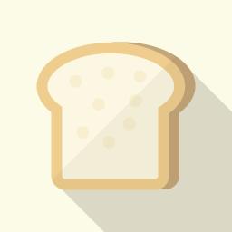 食パンのフラットアイコン素材 Flat Icon Design フラットアイコンデザイン