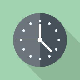 フラットデザインのアイコン シンプルな時計のアイコン