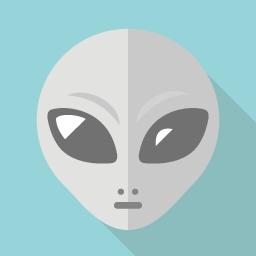 グレイ 宇宙人 のアイコン素材 Flat Icon Design フラットアイコンデザイン
