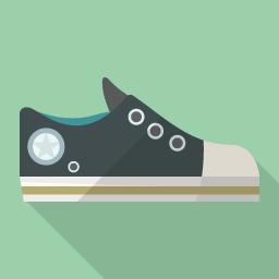 コンバース風の靴のアイコン素材 その2 Flat Icon Design フラットアイコンデザイン