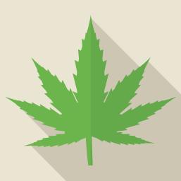 大麻の葉のアイコン素材
