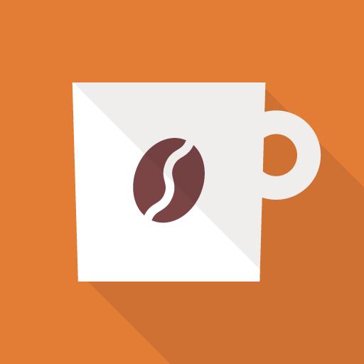 コーヒーカップのフラットアイコン素材