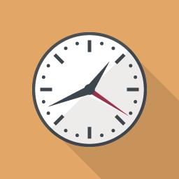 シンプルな時計のアイコン その2 Flat Icon Design フラットアイコンデザイン