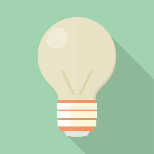 電球のフラットアイコン素材 その2