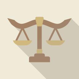 天秤のはかりの素材 Flat Icon Design フラットアイコンデザイン