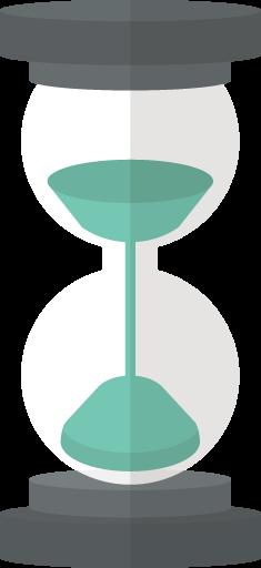 砂時計のアイコン素材