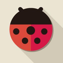てんとうむしのアイコン素材 Flat Icon Design フラットアイコンデザイン