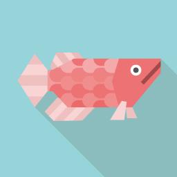 魚のアイコン素材 Flat Icon Design フラットアイコンデザイン