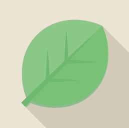 フラットデザインのアイコン 葉っぱのアイコン素材
