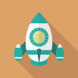 スタートアップのロケットアイコン素材 Flat Icon Design フラットアイコンデザイン