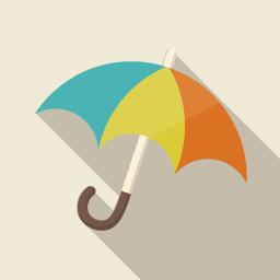 傘のアイコン素材 その3 Flat Icon Design フラットアイコンデザイン