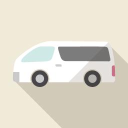 車 Flat Icon Design フラットアイコンデザイン