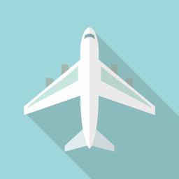 ジェット飛行機のアイコン素材 その3 Flat Icon Design フラットアイコンデザイン