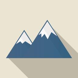 山 Flat Icon Design フラットアイコンデザイン