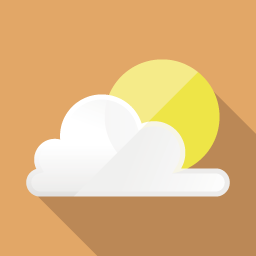 Sun Flat Icon Design フラットアイコンデザイン
