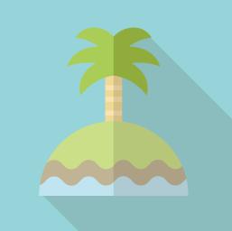 南の島のアイコン素材