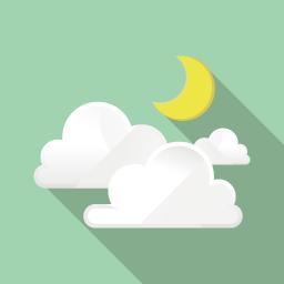 曇り Flat Icon Design フラットアイコンデザイン