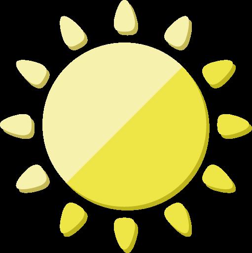 太陽のアイコン素材